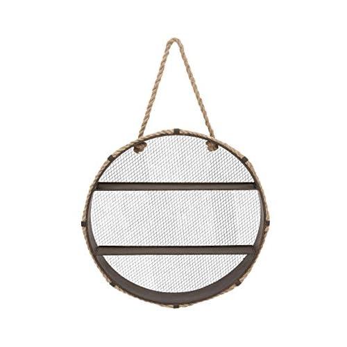 Deco 79 93936 Metal & Rope Wall Shelf