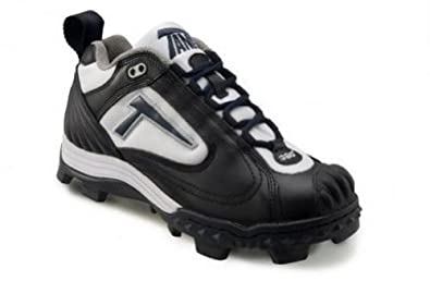 Buy Tanel 360° REV-D Low Cut Cleat With Pitchers Toe. Girls Ladies. Black, White & Navy by Tanel 360