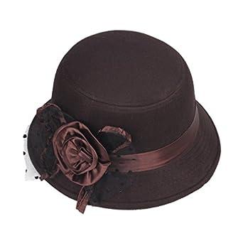 JTC Womens Flower Decor Bucket Hat Brown at Amazon Women's ...