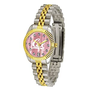 California Golden Bears NCAA Mother of Pearl Executive Ladies Watch by SunTime