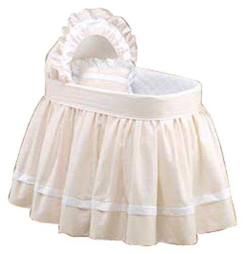 Imagen de Baby Doll Bedding Set Regal Bassinet Piqué, Blanco