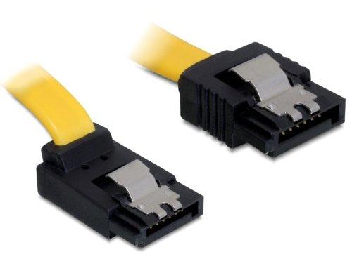 DELOCK Kabel SATA 6Gb/s 50cm gelb ob/ge Metall