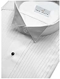 Tuxedo Shirt By Neil Allyn - 100% Cotton Wing Collar with French Cuffs (16 - 34/35)