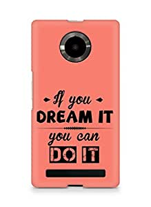 Amez If you can Dream it You can do it Back Cover For YU Yupheria