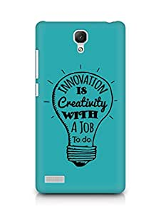 Amez Innovation is Creativity with a Job to do Back Cover For Xiaomi Redmi Note