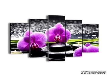 5 impression sur toile toile 160x85 cm image sur toile 5 parties encadr e prete. Black Bedroom Furniture Sets. Home Design Ideas