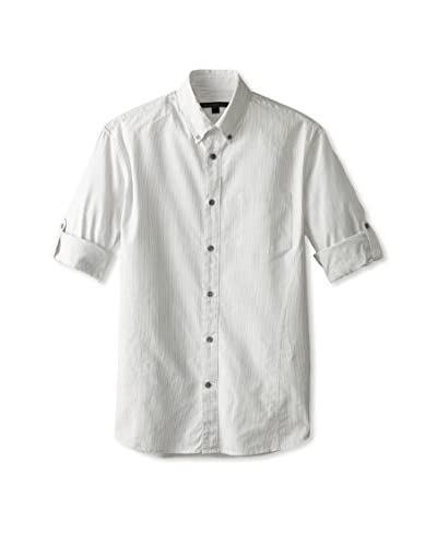John Varvatos Star USA Men's Roll-Up Sleeve Button Down Shirt