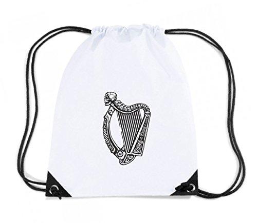 t-shirtshock-mochila-budget-gymsac-tir0253-irish-harp-with-skull-talla-capacidad-11-litros