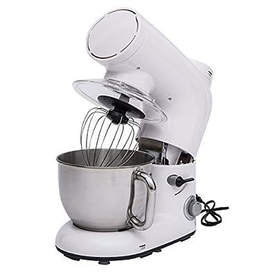 HomCom 5QT Tilt Head 6 Speed Stand Mixer w/ Dough Hook and Beater by HomCom