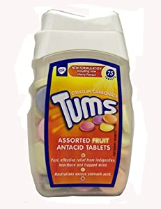 Tums Antacid Tablets Assorted Fruit Flavours 75