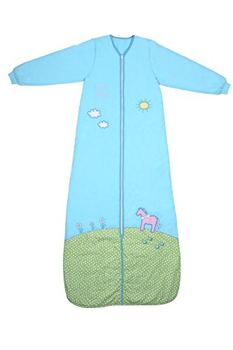 Girls Winter Sleeping Bag Long Sleeves 3.5 Tog - Pony, 3-6 years/51inch