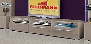 tv lowboard kommode 397125 grau cappuccino hochglanz k che haushalt. Black Bedroom Furniture Sets. Home Design Ideas