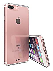 iPhone 7 Plus Case, Bomea iPhone 7 Plus Clear Case Super Slim Protective Shell Bumper Cover TPU Trim with Transparent Scratch Resistant Hard Back Cover - Retail Packaging
