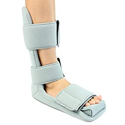 Plantar Fasciitis Night Splint By Vive - Soft Night Splint for Plantar Fasciitis Provides Comfort & Pain Relief - Foot Splint with Straps for Easy Adjusting - Vive Guarantee (Extra Large)