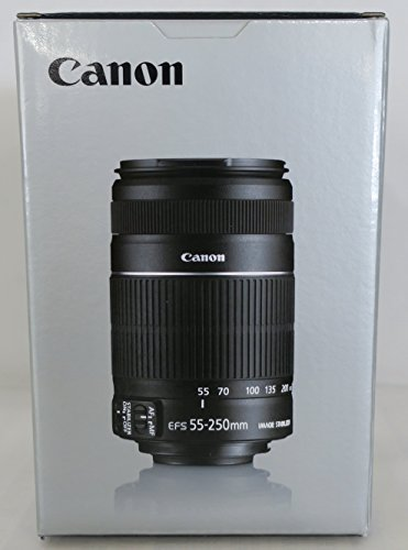 Canon-EF-S-55-250mm-f4-56-IS-II-Teleobiettivo-con-Zoom-colore-Nero