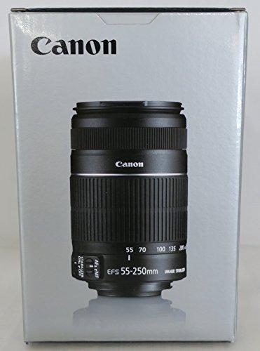 Canon-EF-S-55-250mm-f4-56-IS-II-Teleobiettivo-con-Zoom-colore-Nero