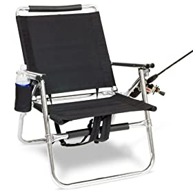"FISHMASTER Ultra Light All Aluminum Fishing Chair and Rod Holder with SPF 50 Clamp on 41"" Telescopic UMBRELLA and Multifunction Pocket Knife with FREE SHIPPING!"