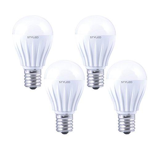 STYLED LED電球 E17口金【4個パック】小形電球タイプ 6W 600lm (電球色相当・密閉器具対応・小形電球50W相当) LA38N50L1P4