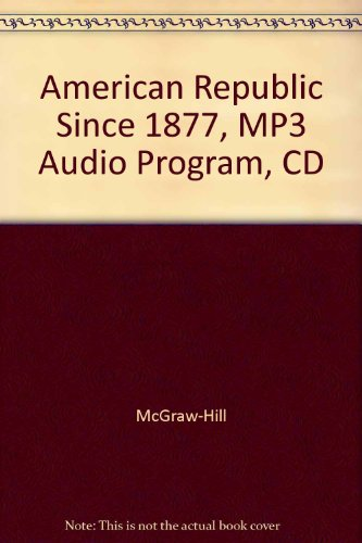 American Republic Since 1877, MP3 Audio Program, CD