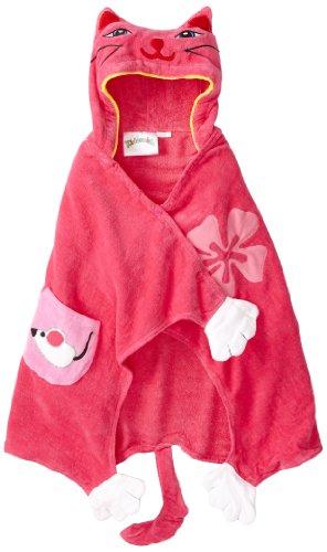 Kidorable Little Girls'  Lucky Cat Towel, Pink, Medium