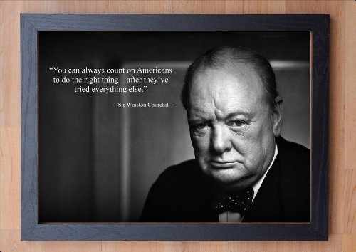 stunning-framed-winston-churchill-inspirational-quote-7-print-you-can-always-count-on-americans