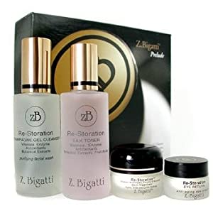 Z. Bigatti Night Care, 5pcs Prelude Starter Kit: Gel Cleanser 59ml + SilkToner 60ml+ Skin Treatment 14g+ Impact 14g+ Eye Return 7g for Women