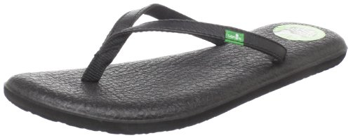 Sanuk Women's Yoga Spree Thong Sandal,Black,8 M US