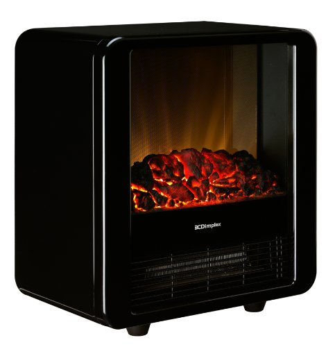 Dimplex MCF15B Electric Micro Fire with Optiflame Effect, 1.5 kW, High Gloss Black