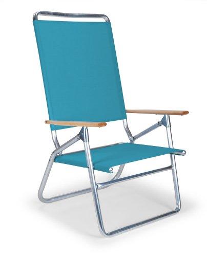 Telescope Casual Light and Easy High Boy Folding Beach Arm Chair, Aqua