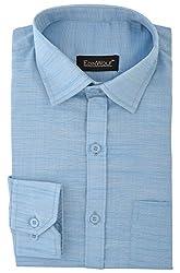 Edinwolf Men's Formal Shirt (EDFR723_38, Blue, 38)