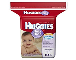 Huggies One & Done Fragrance Free Baby Wipes Refill, 552 Total Wipes 184-Count Pack (Pack of 3) [Packaging May Vary]