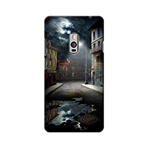 ArtzFolio Scary Street : OnePlus 2 Matte Polycarbonate Original Branded Mobile Cell Phone Designer Hard Shockproof Protective Back Case Cover Protector