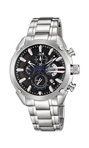 Festina F6822/4 - Reloj cronógrafo de cuarzo para hombre con correa de acero inoxidable, color plateado