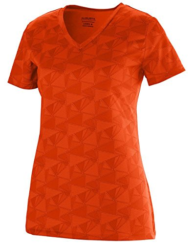 Augusta Sportswear Women'S Elevate Wicking Shirt , Or/Bp, Xx-Large front-848698