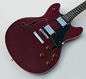 new pro jazz box semi hollow electric guitar cherry red musical instruments. Black Bedroom Furniture Sets. Home Design Ideas