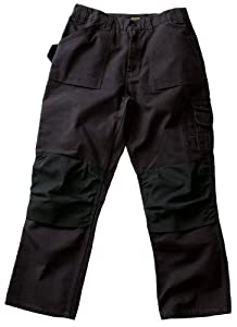 Blaklader Workwear Bantam Pant with out Utility Pockets, 34-Inch Waist, 34-Inch Length, 8-Ounce Cotton - Black