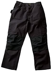 Blaklader Workwear Bantam Pant with out Utility Pockets, 40-Inch Waist, 30-Inch Length, 8-Ounce Cotton - Black