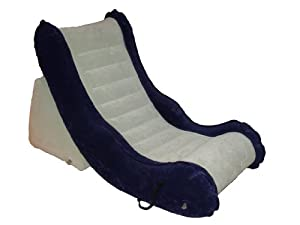VMK Video Game Comfort Chair. Inflatable for Maximum Comfort. Fast-Fill Electric Air Pump Included.