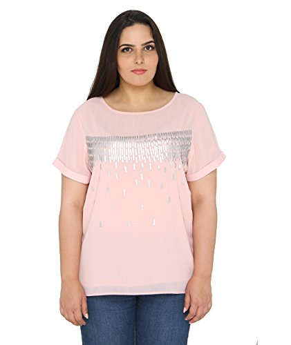 Calae Women's Plain Pink Top