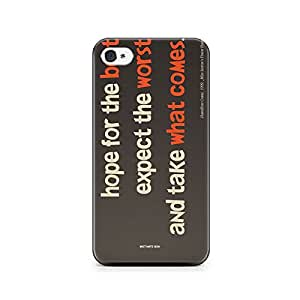 Motivatebox-Apple Iphone 4/4s cover-Best Worst Polycarbonate 3D Hard case protective back cover. Premium Quality designer Printed 3D Matte finish hard case back cover.