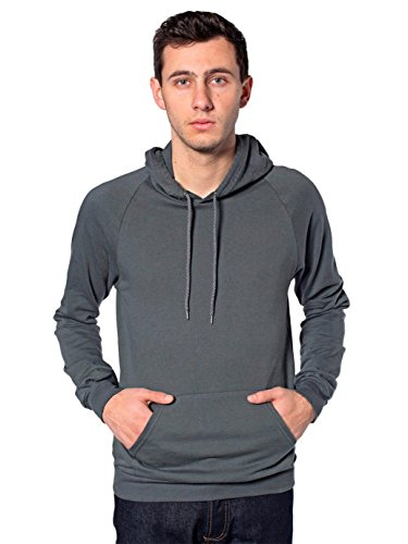 American Apparel Men's California Fleece Pullover Hoodie - Asphalt / L