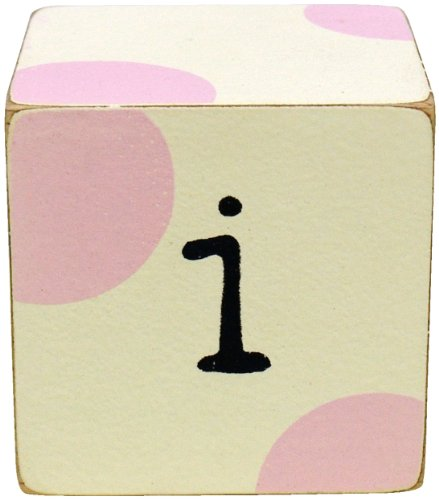 New Arrivals Letter Block I, Pink/White