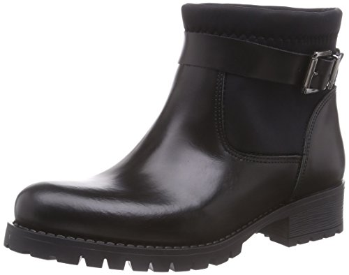 PIECES Psvaha Leather Boot Black, Stivaletti classici non imbottiti, corti donna, Nero (Nero (nero)), 36