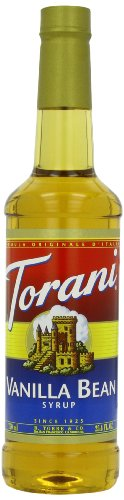 Torani Syrup, Vanilla Bean, 25.4 Ounce (Pack of 4)