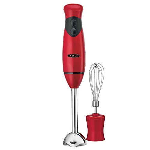 BELLA Hand Immersion Blender with Whisk Attachment, 250 Watt RED 14460 (Stainless Steel Immersion Blender compare prices)
