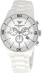 Emporio Armani Women's AR1424 Ceramic White Dial Watch