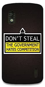 The Racoon Grip The Government hard plastic printed back case / cover for LG Nexus 4