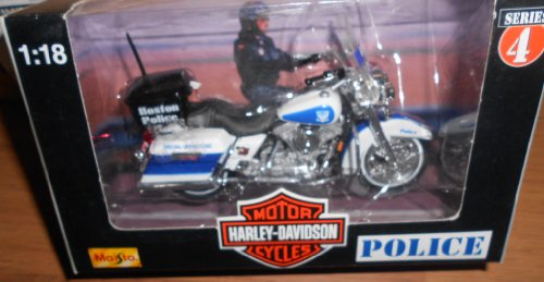Maisto Harley Davidson Motorcycles (Series 4 1998) 1:18 Scale Boston Police Department