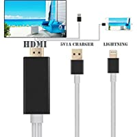 Feihe IPhone Lightning To HDMI Cable 6.5Ft Lightning MHL To HDMI Cable 1080P HDTV Adapter For IPhone 5 5S 6 6s... - B01DPSWGMS