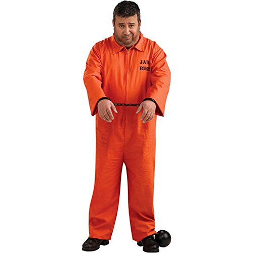 Orange Prisoner Jumpsuit Plus Size Costume - Full Cut